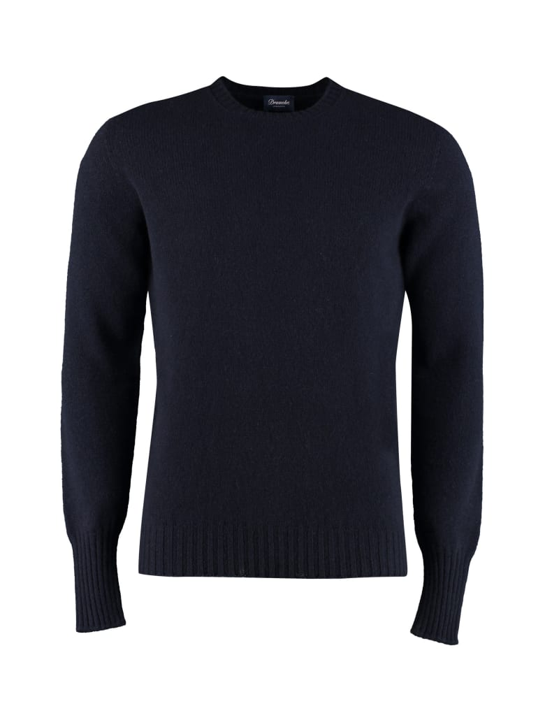 Drumohr Crew-neck Wool Sweater - blue