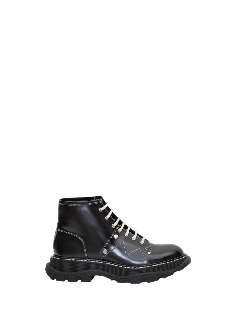 Alexander McQueen Tread Lace-up Boots - Nero