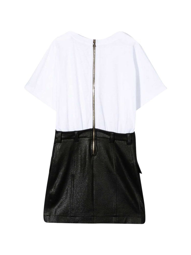 Balmain White T-shirt Dress - Bianco/nero