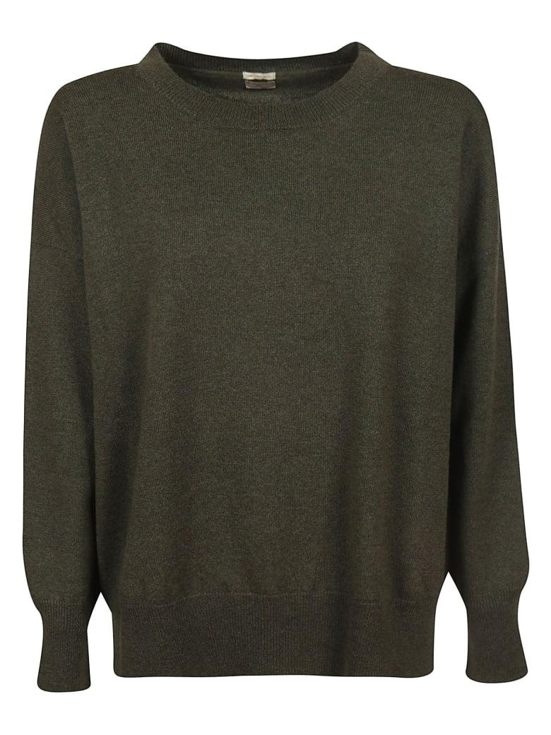 Massimo Alba Round Neck Sweater - Military