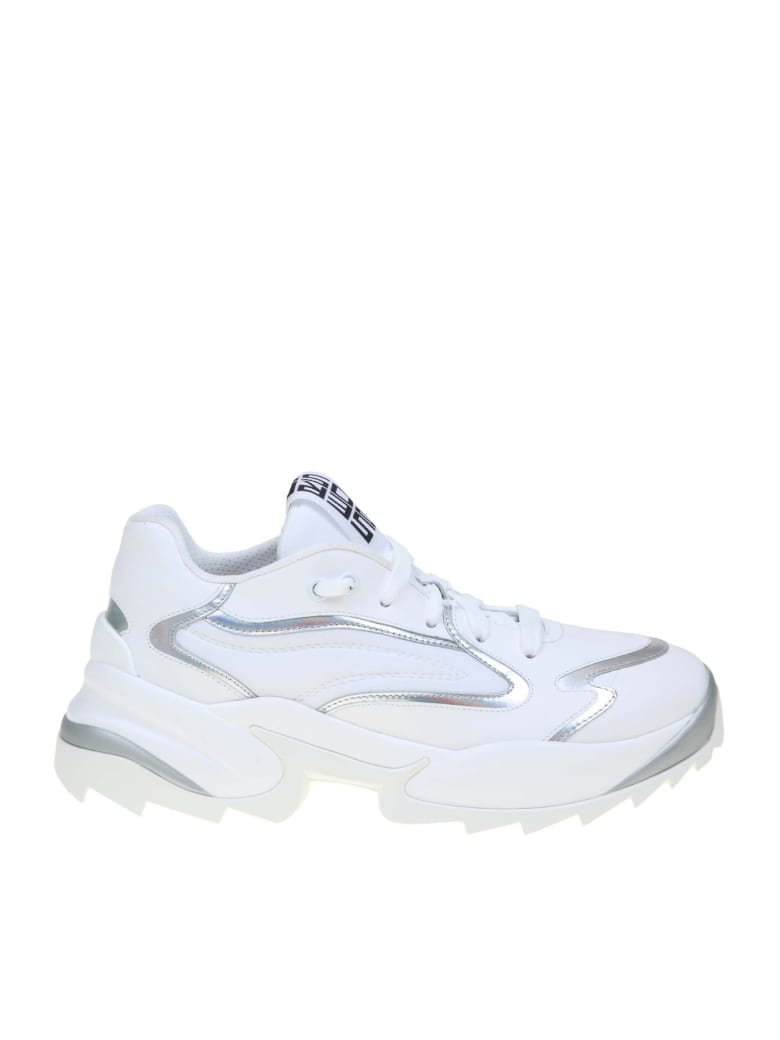 Sergio Rossi Extreme Sneakers In Leather - WHITE