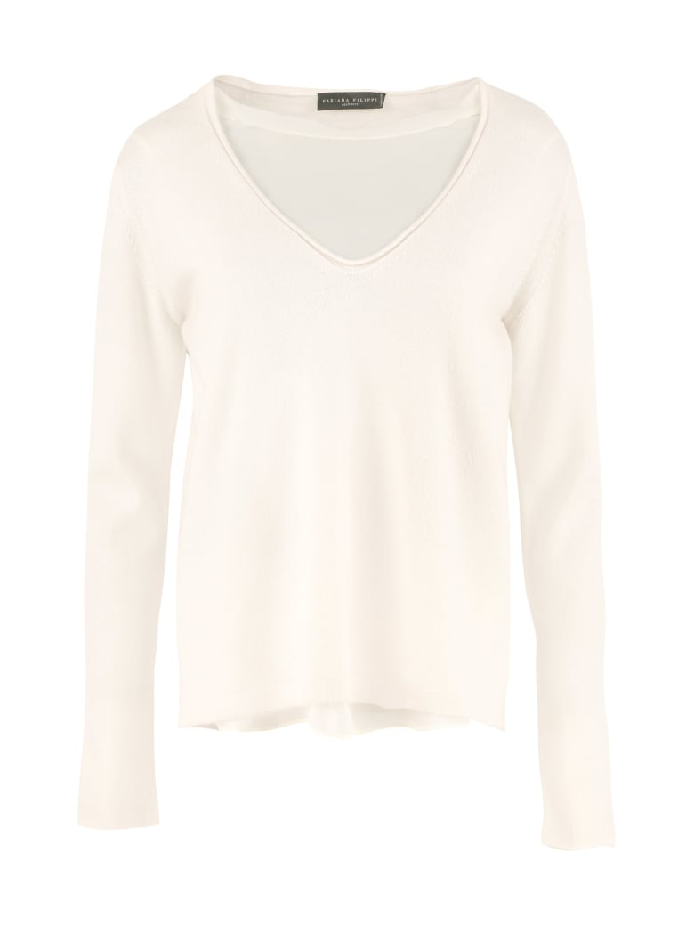 Fabiana Filippi Cashmere And Silk Layered Sweater - panna