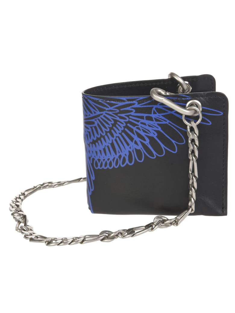 Marcelo Burlon Pictorial Wings Chain Wallet - Black/Blue