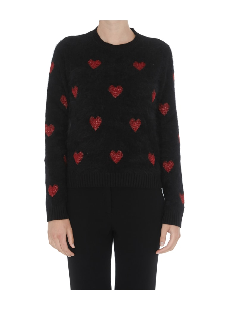 RED Valentino Hearts Detail Sweater - Black