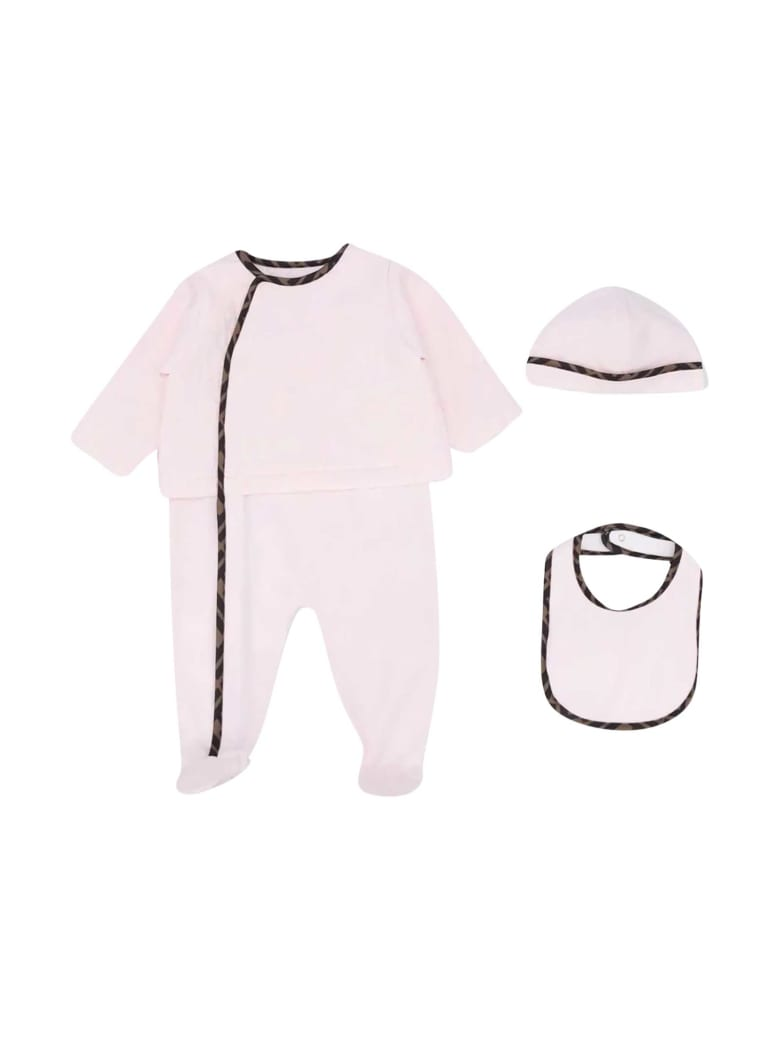 Fendi Three-piece Baby Set - Rosa