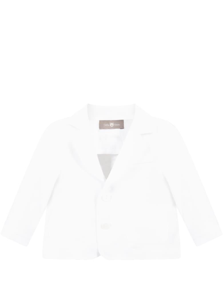 Little Bear White Jacket For Babykids - White