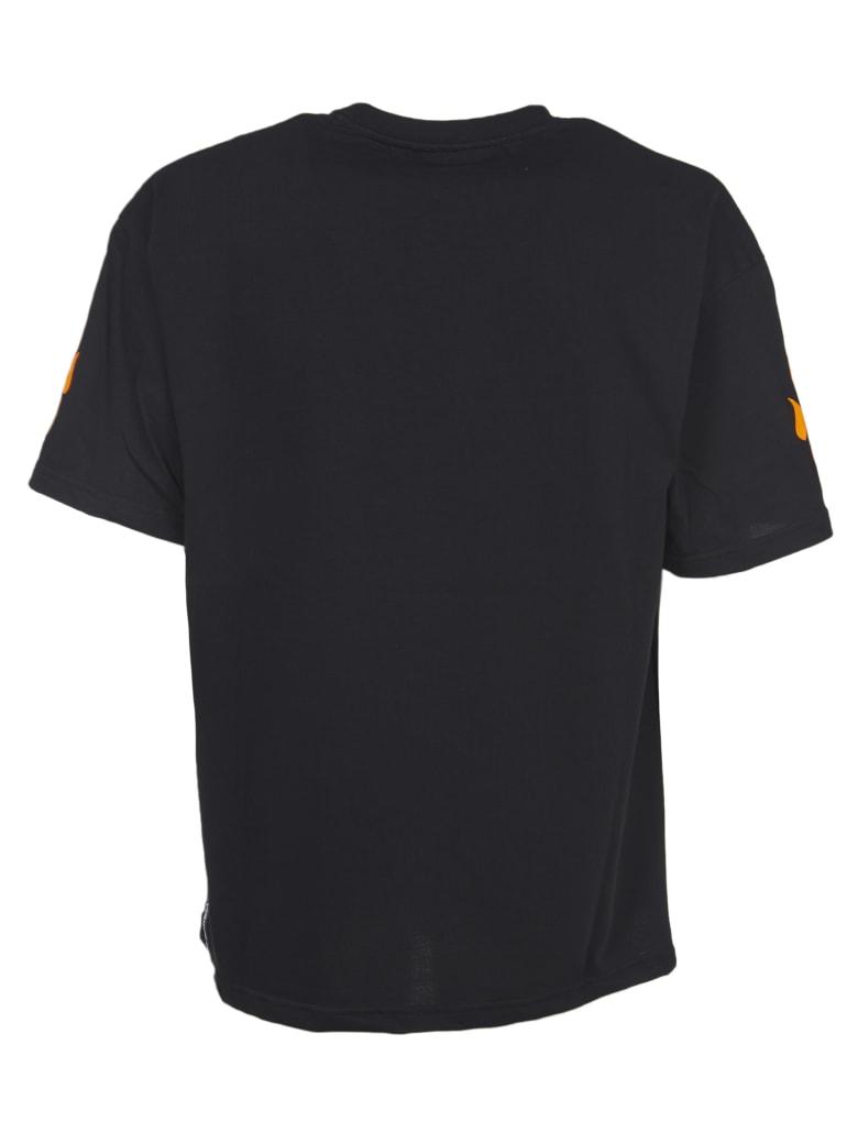 Vision of Super Orange Flames T-shirts - Black