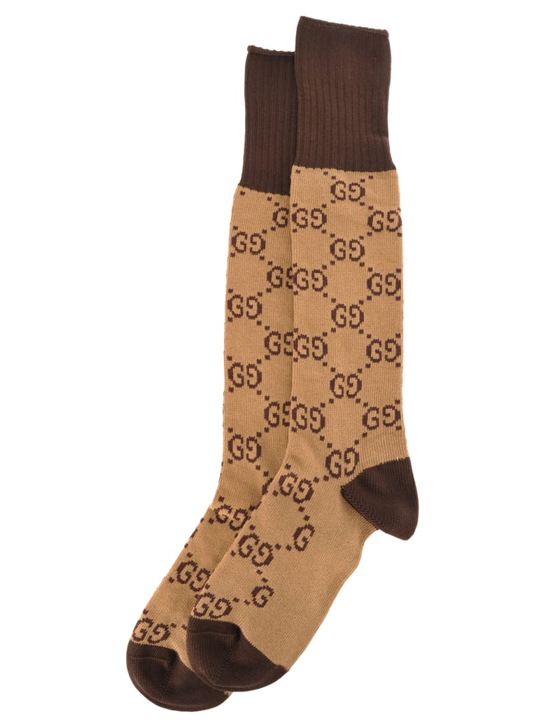 Gucci Interlocking G Socks - BEIGE