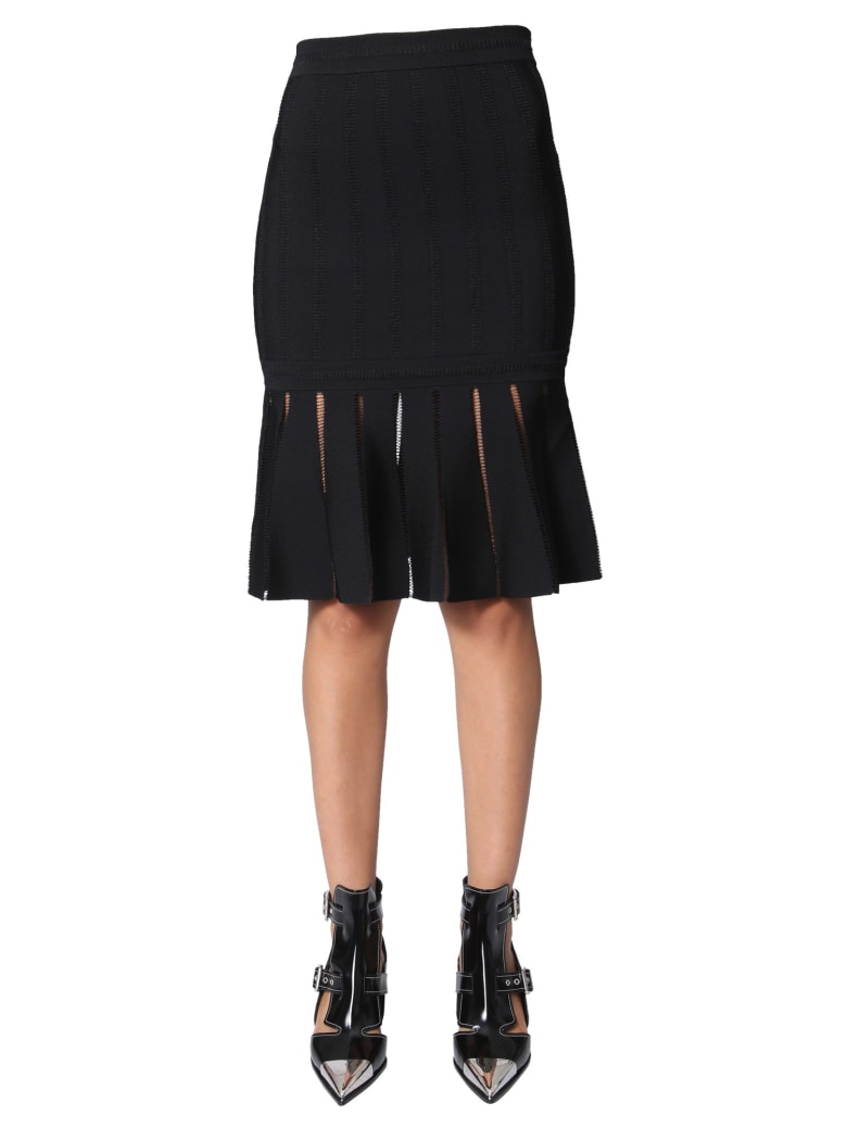 Alexander McQueen Midi Skirt - NERO