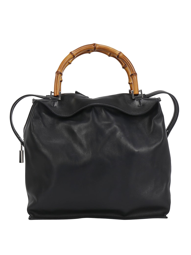 Jil Sander Block Medium Handbag - Black