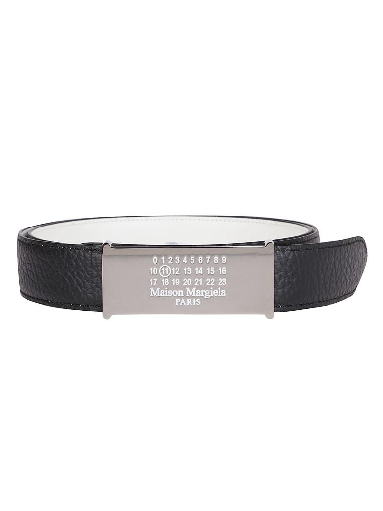 Maison Margiela Black Leather Belt - Black