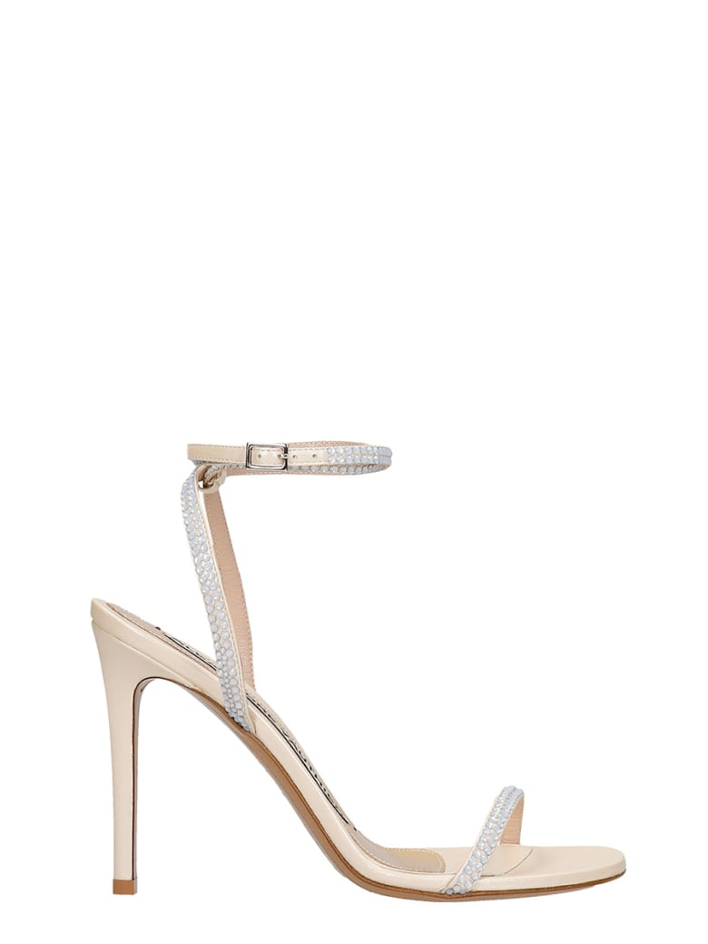 Alexandre Vauthier Sandals In Platinum Leather - platinum