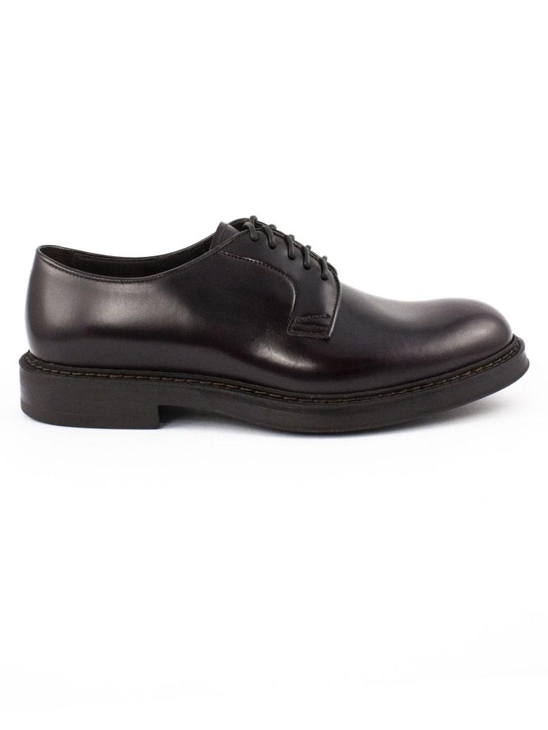 Doucal's Bordeaux Derby Shoes - Bordo