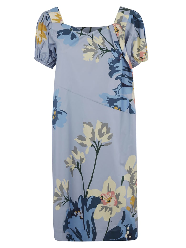 Antonio Marras Floral Print Mid-length Dress - Light Blue