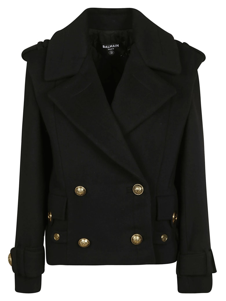 Balmain Embellished Double-breasted Blazer - Black