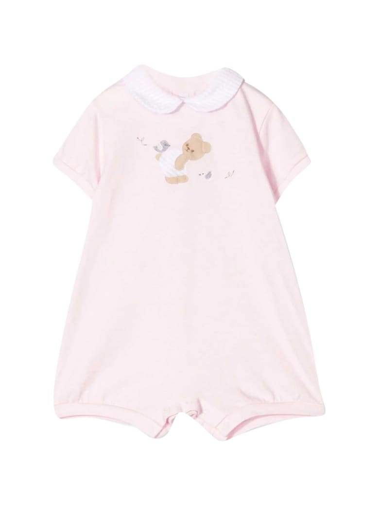 Il Gufo Embroidered Onesie - Rosa
