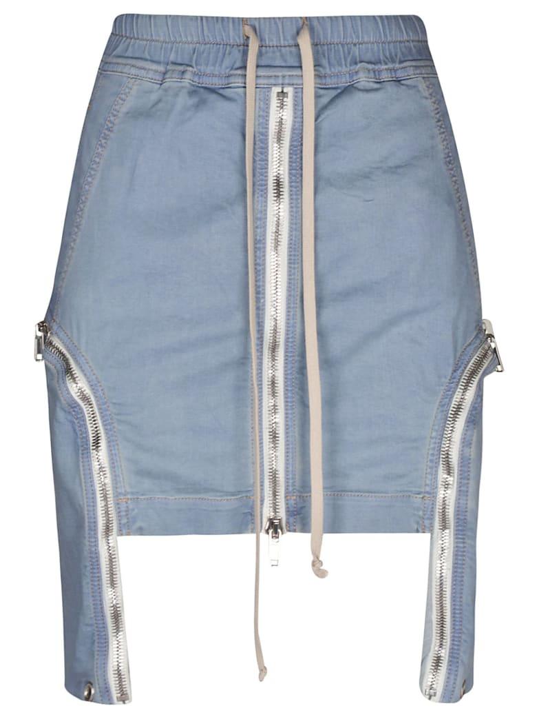 DRKSHDW Multi-zipped Mini Skirt - Blue