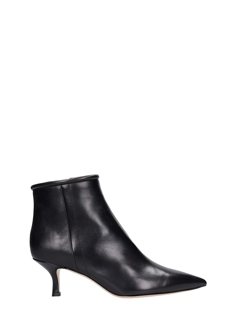 Fabio Rusconi Low Heels Ankle Boots In Black Leather - black