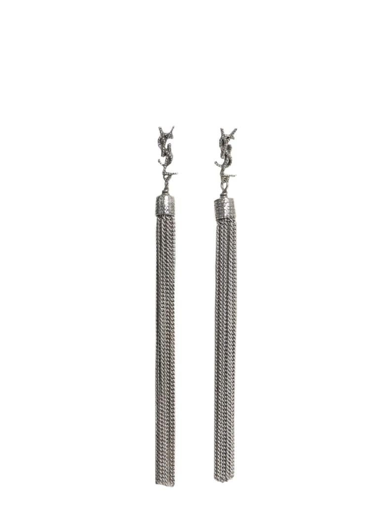 Saint Laurent Loulou Earrings - ARGENTO