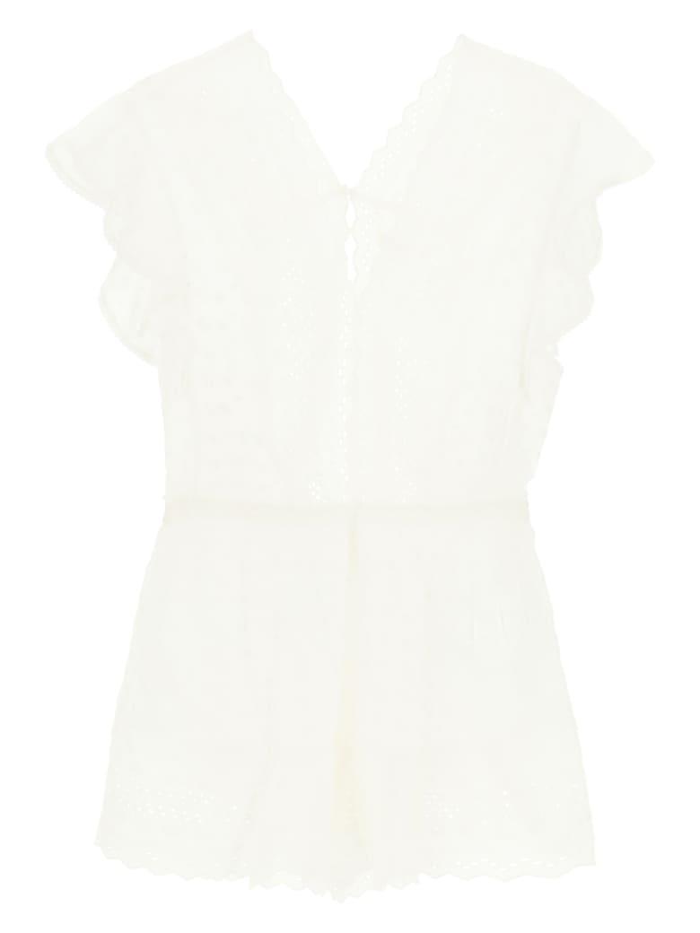Isabel Marant Étoile Sangallo Cotton Jumpsuit - WHITE (White)