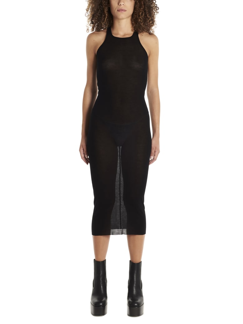 Rick Owens 'tank' Dress - Black