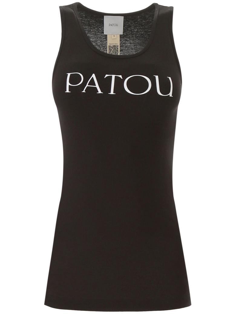 Patou Tank Top With Logo Print - BLACK (Black)