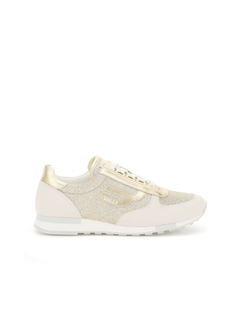 Bally Gavinia Glitter Sneakers - 0478 PLATINO (Gold)