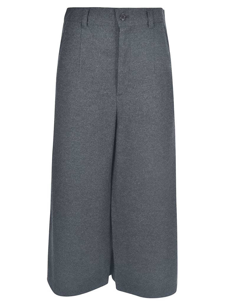 Zucca Wide-leg Cropped Trousers - Anthracite