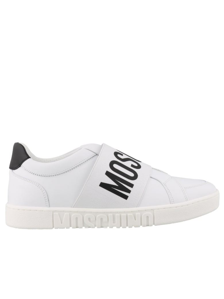 Moschino Logo Sneakers - White