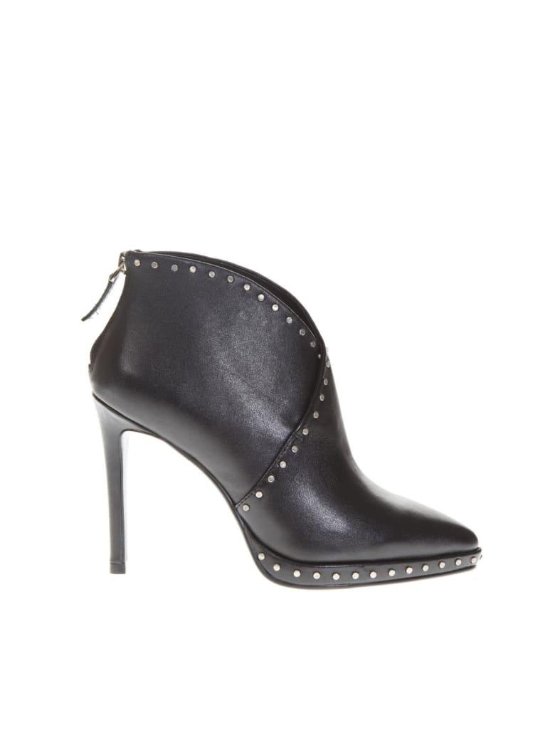 Lola Cruz Black Leather Booties - Black