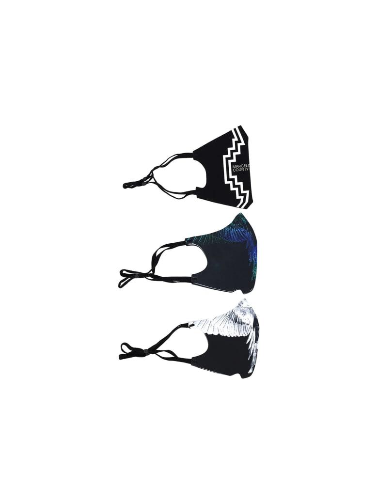 Marcelo Burlon Mask X3 Pack - Black white
