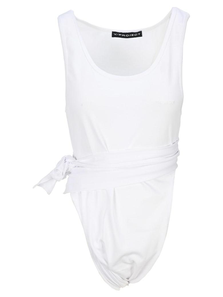 Y/Project Tie-waist Bodysuit - WHITE
