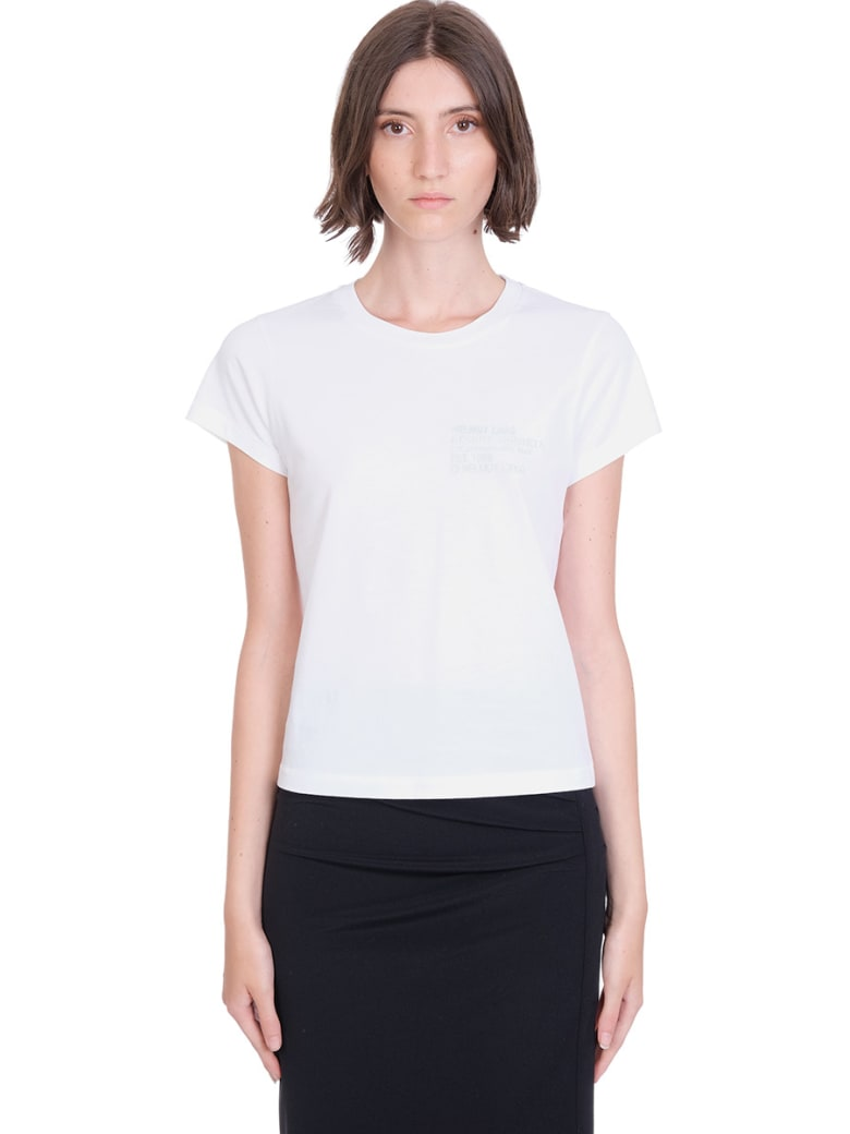 Helmut Lang T-shirt In White Cotton - white