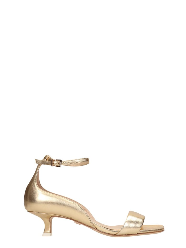 Lola Cruz Gold Leather Sandals - gold