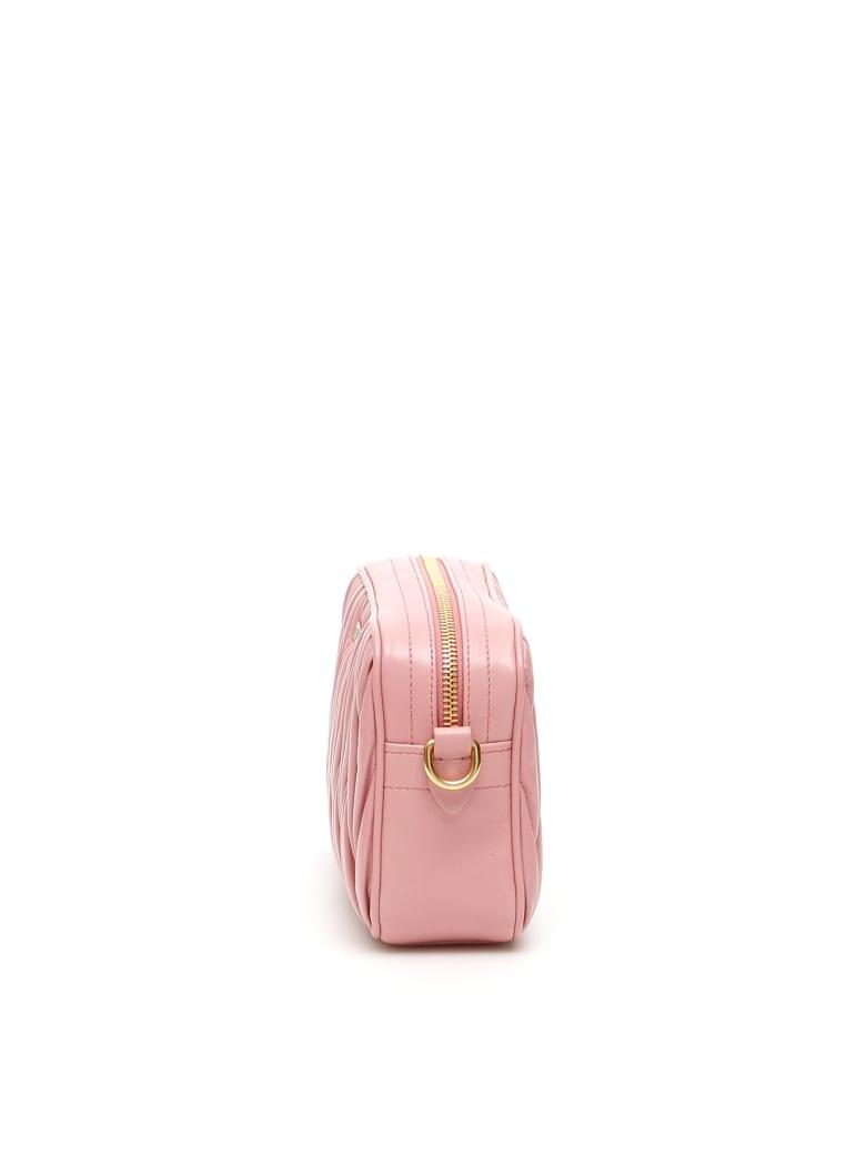 Miu Miu Matelassé Nappa Camera Bag - Rosa