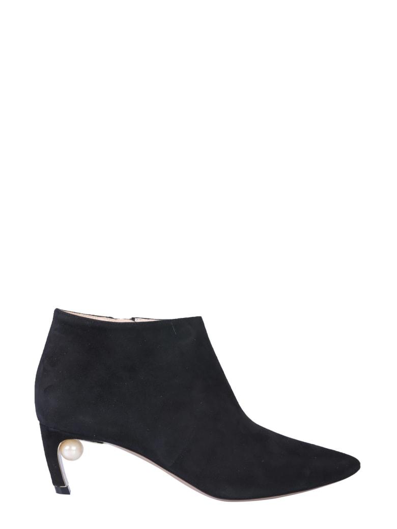 Nicholas Kirkwood Mira Pearl Ankle Boot - NERO