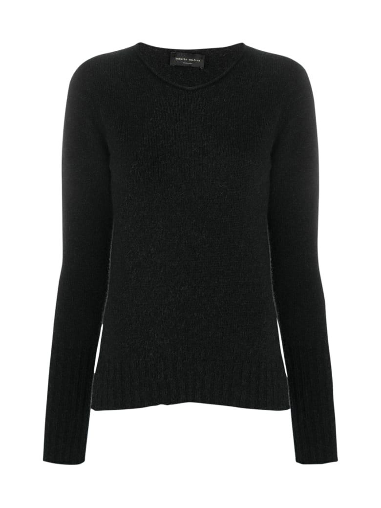 Roberto Collina Boat Neck Sweater - Black