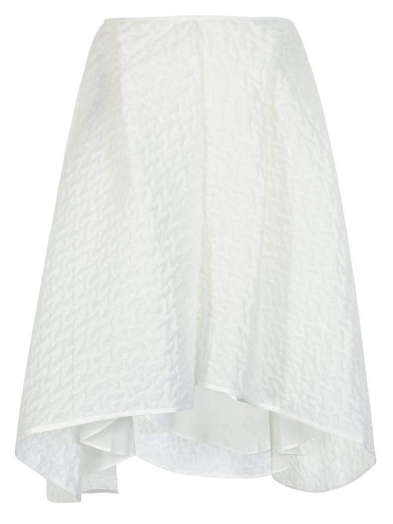 Cecilie Bahnsen Textured Detail Oversized Skirt - White