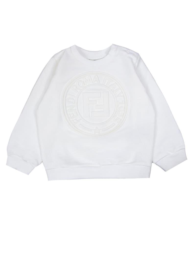 Fendi White Cotton Sweatshirt - Gesso