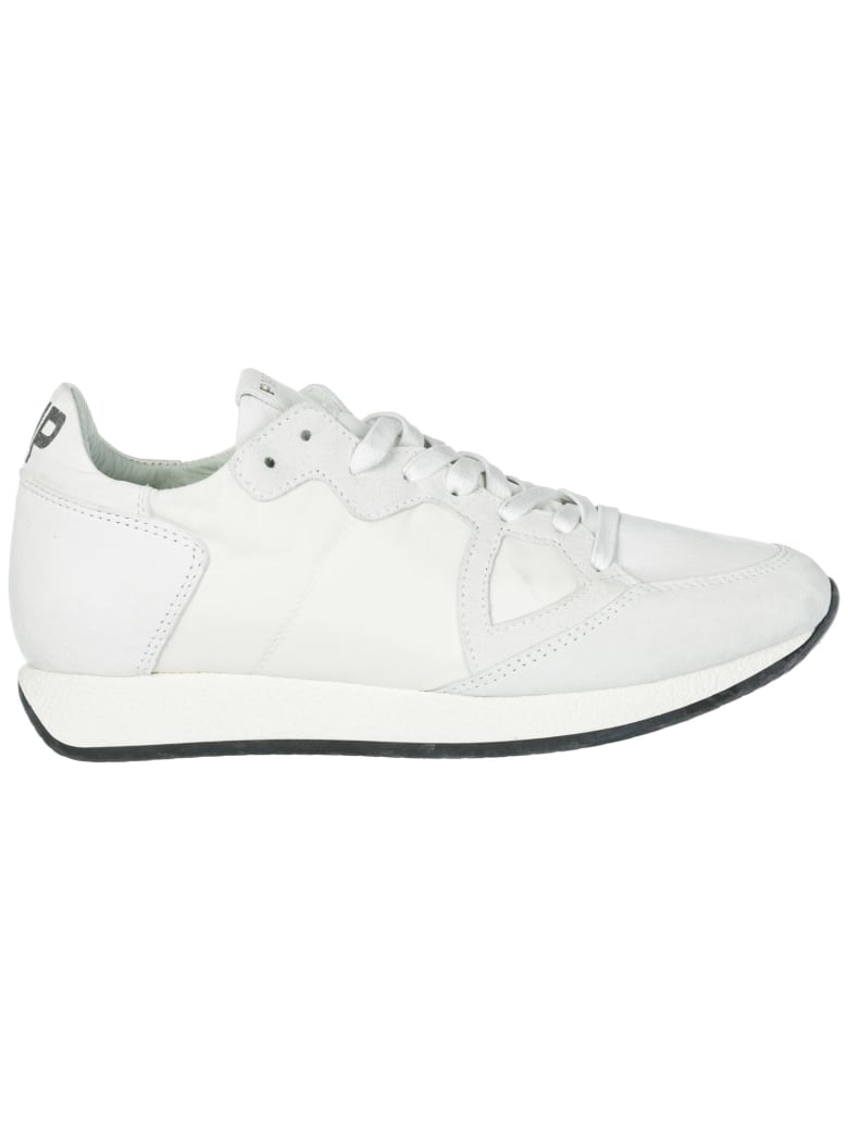 Philippe Model  Shoes Suede Trainers Sneakers Monaco - Basic blanc