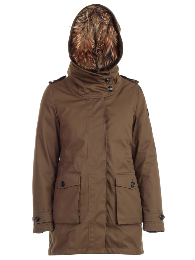 Woolrich Padded Jacket Double W/hood - Army Olive