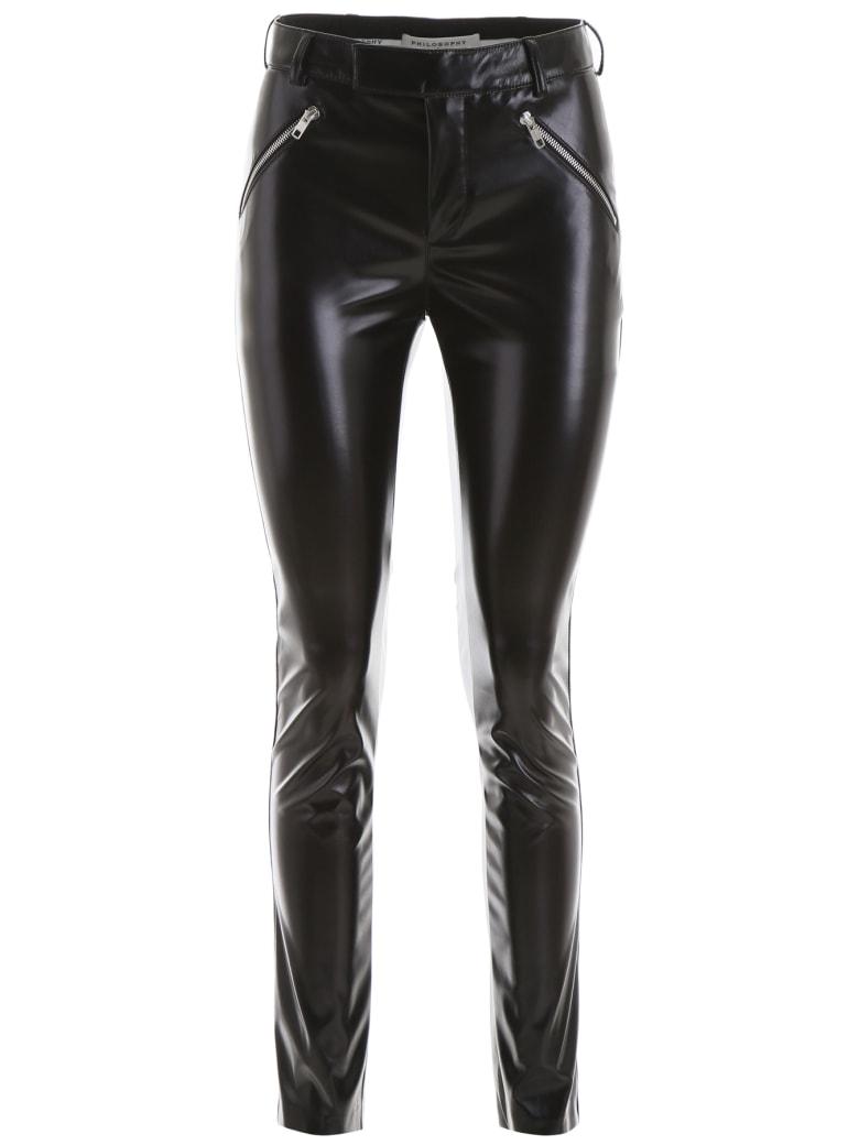 Philosophy di Lorenzo Serafini Vegan Leather Trousers - BLACK (Black)