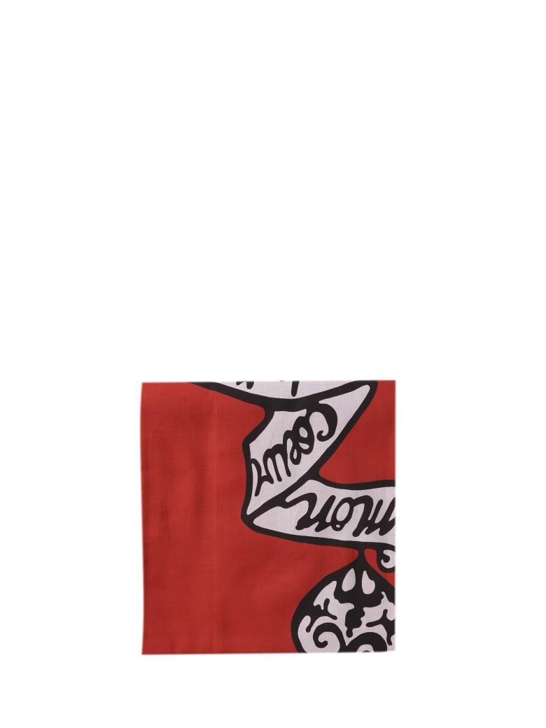 Alaia Azzedine Alaia Red Mon Coeur Scarf - Rosso/nero