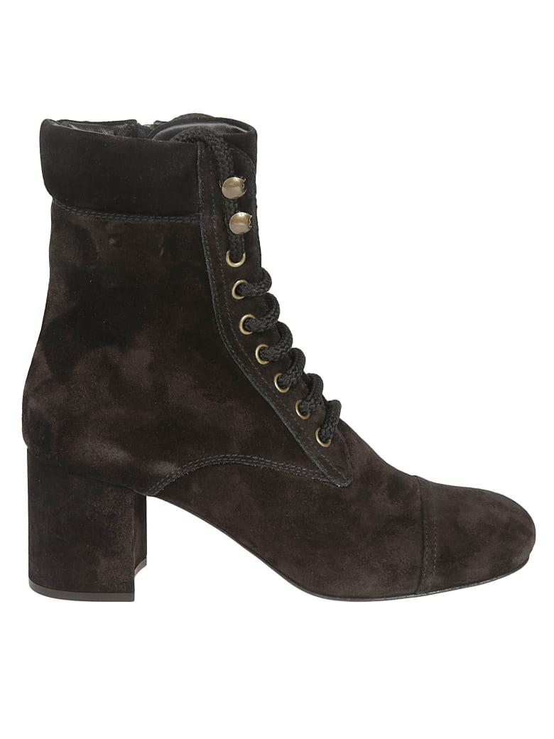 Miu Miu Lace-up Boots - Black