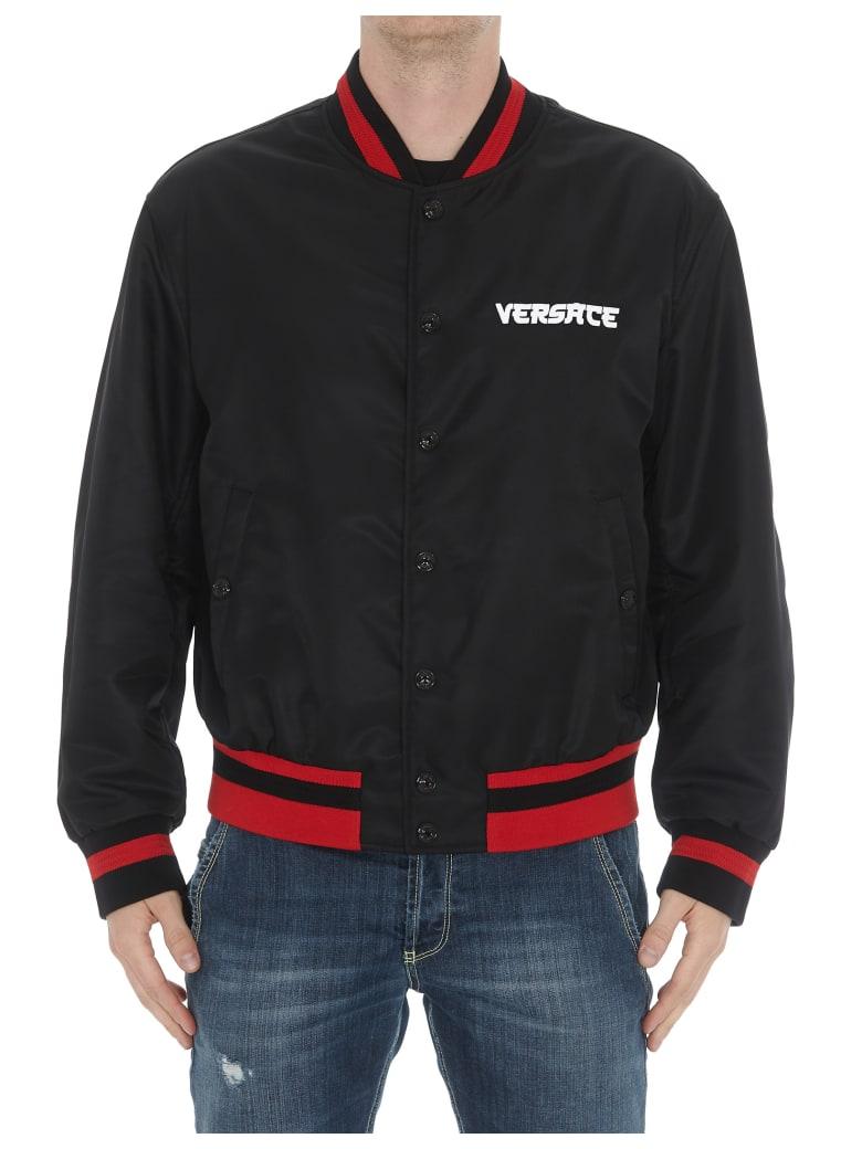 Versace Logo Medusa Bomber Jacket - Black