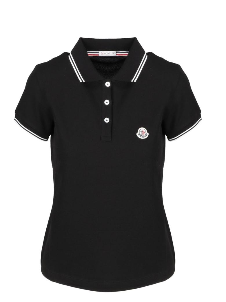 Moncler Patch Logo Poloshirt - Nero