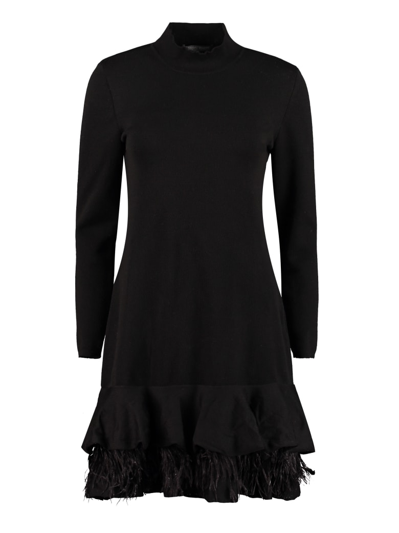 Alberta Ferretti Knitted Mini-dress - black