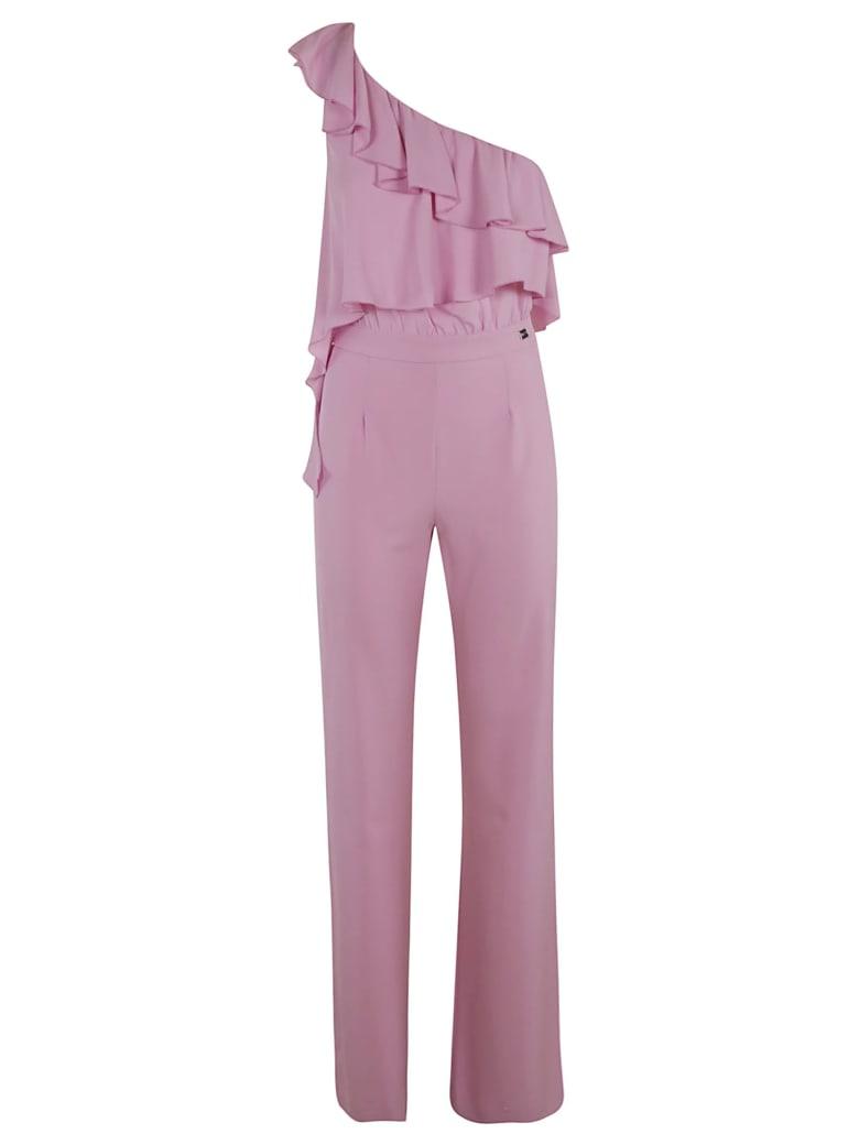 Be Blumarine Asymmetric Ruffled Jumpsuit - pink