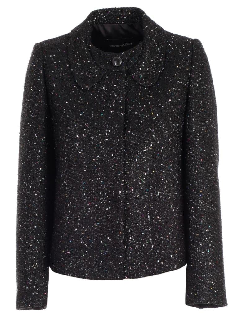 Emporio Armani Jacket Glitter Round Neck - Fantasia
