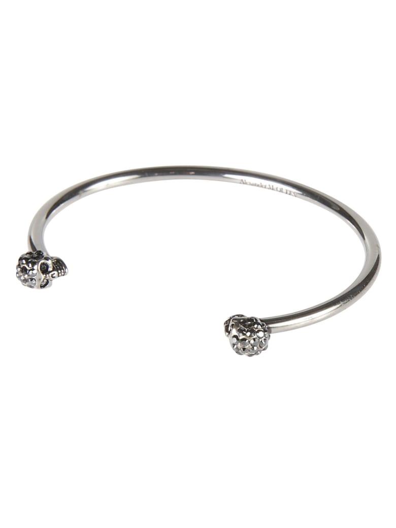 Alexander McQueen Thin Skull Bracelet - Argento